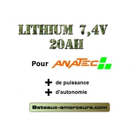 X 1 batterie lipo 20ah pour anatec