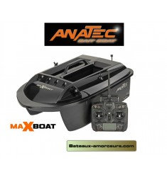 Bateau amorceur MAXBOAT BLACK anatec batteries lithium