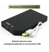 Batterie secours Power bank 10ah pour smartphone et tablette